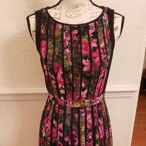 Adrianna Papell Pleated Sleveless Dress